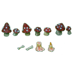 DEADLY MUSHROOMS SET